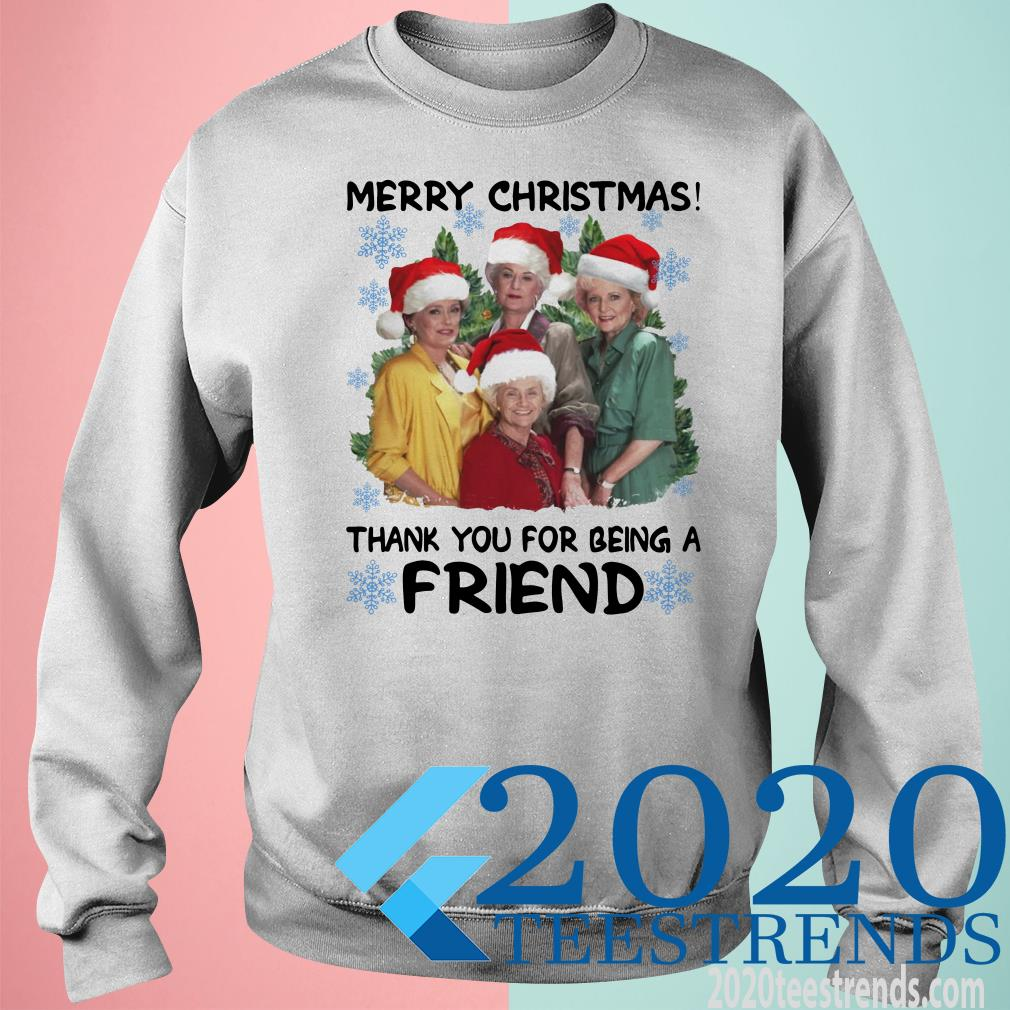 Golden Girl Merry Christmas Thank You For Being A Friend Christmas Sweater