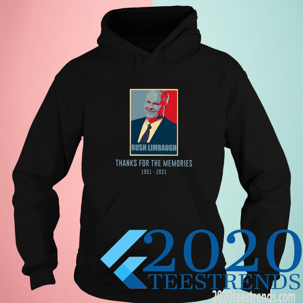 Rush Limbaugh Thanks For The Memories 1951 2021 Vintage Hoodie