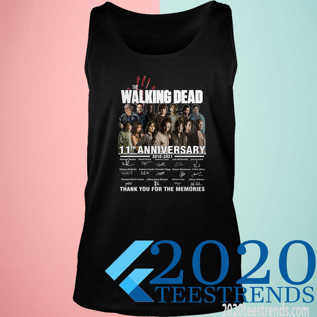 The Walking Dead 11th Anniversary 2010 2021 Thank You For The Memories Signatures Tanktop