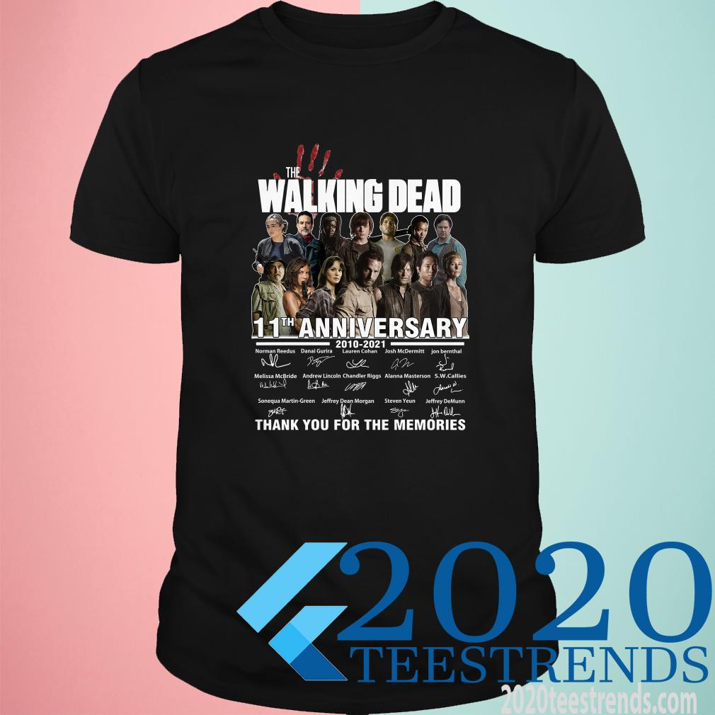 The Walking Dead 11th Anniversary 2010 2021 Thank You For The Memories Signatures Shirt