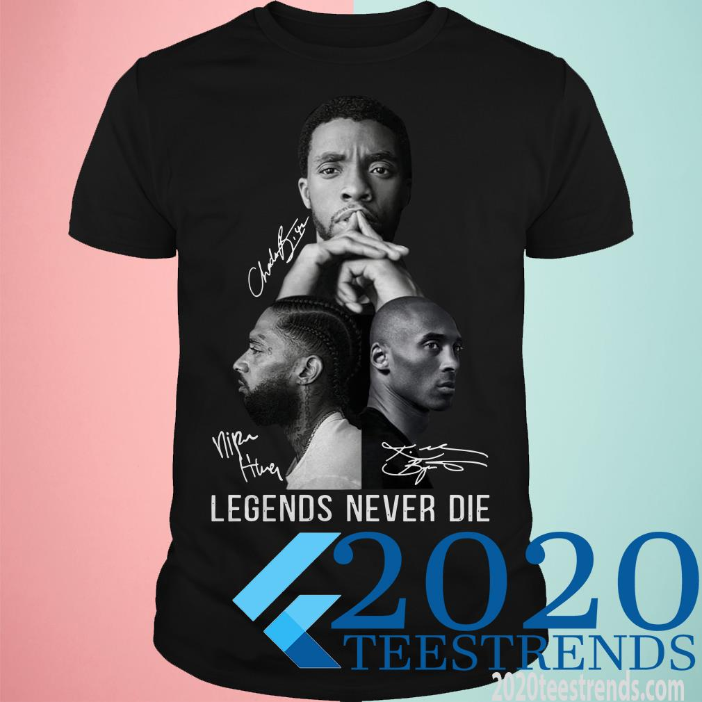Black Panther Nipsey Hussle and Kobe Bryant Legends Never Die Signature Shirt