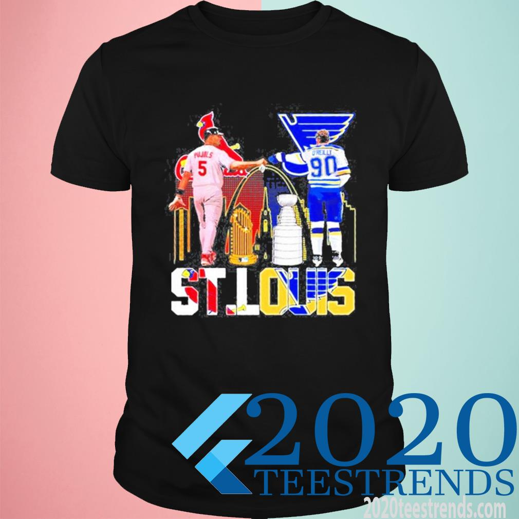 5 Pujols St Louis Cardinals And 90 Oreilly St.louis Blues Of St.louis Sports Shirt