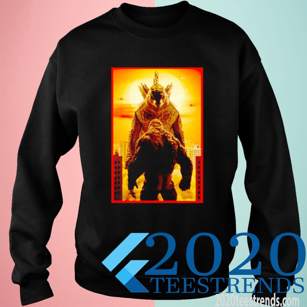Godzilla Vs Kong Face To Face Shirt sweatshirt