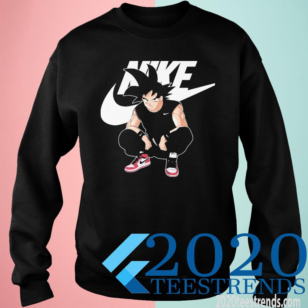 Goku and Nike sweatshirt