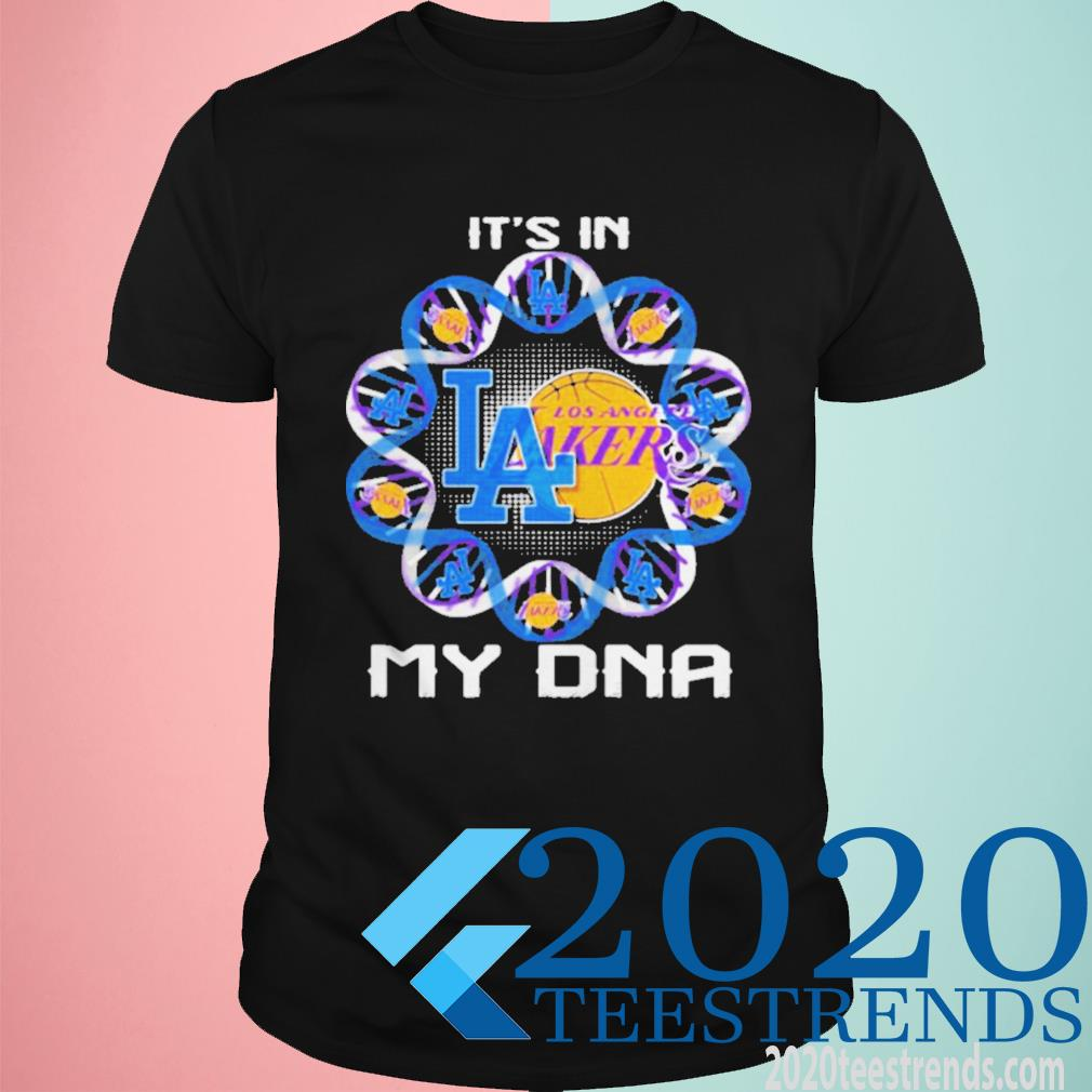 It's In My Dna Los Angeles Lakers Football Funny Shirt