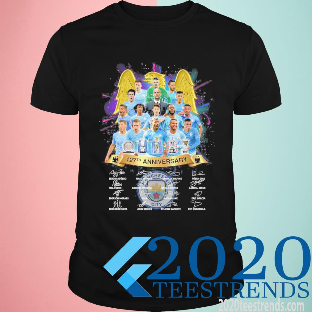 Manchester City 127th Anniversary Signatures Funny Shirt