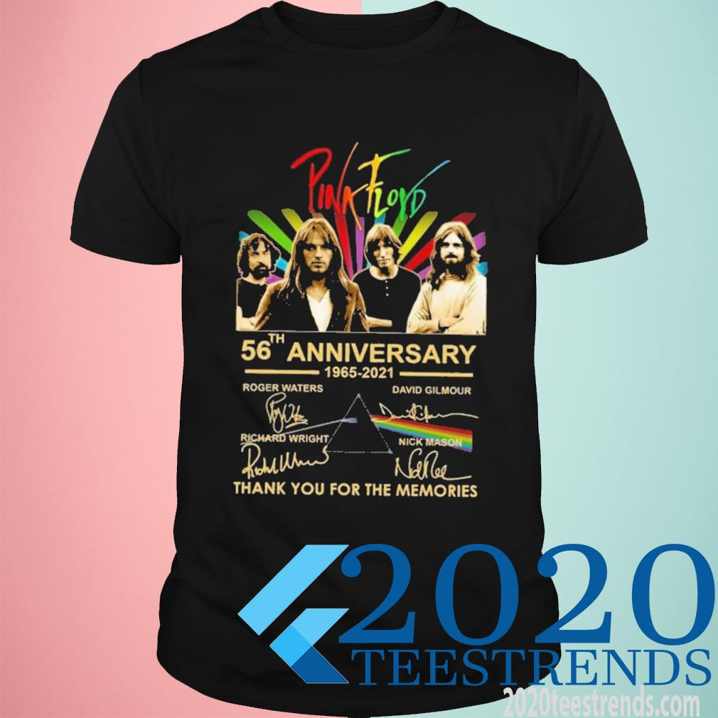 Pink Floyd 56th Anniversary 1965 2021 Signature Thank You For The Memories Shirt