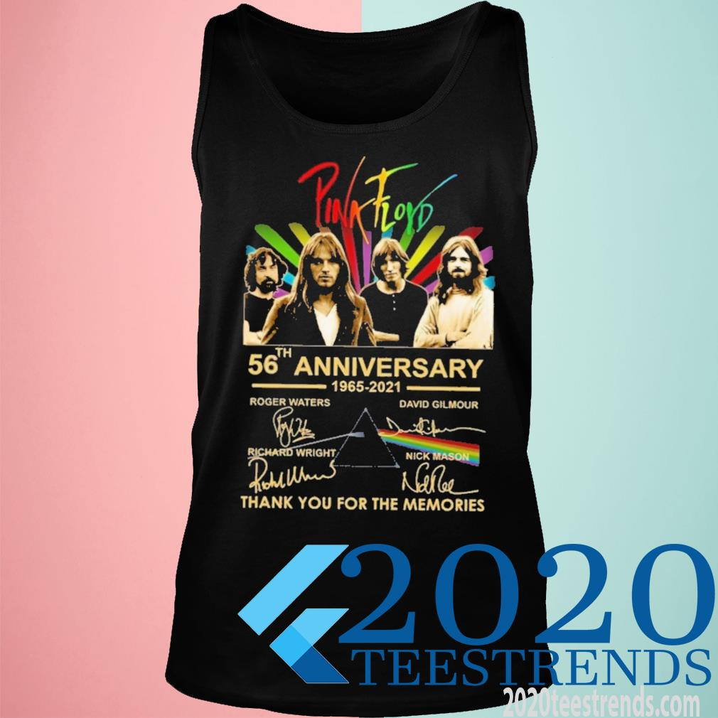 Pink Floyd 56th Anniversary 1965 2021 Signature Thank You For The Memories Shirt tank top