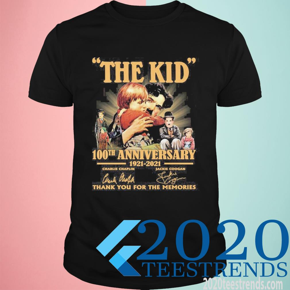 The Kid 100th Anniversary 1921 2021 Signatures Thank You For The Memories Funny Shirt