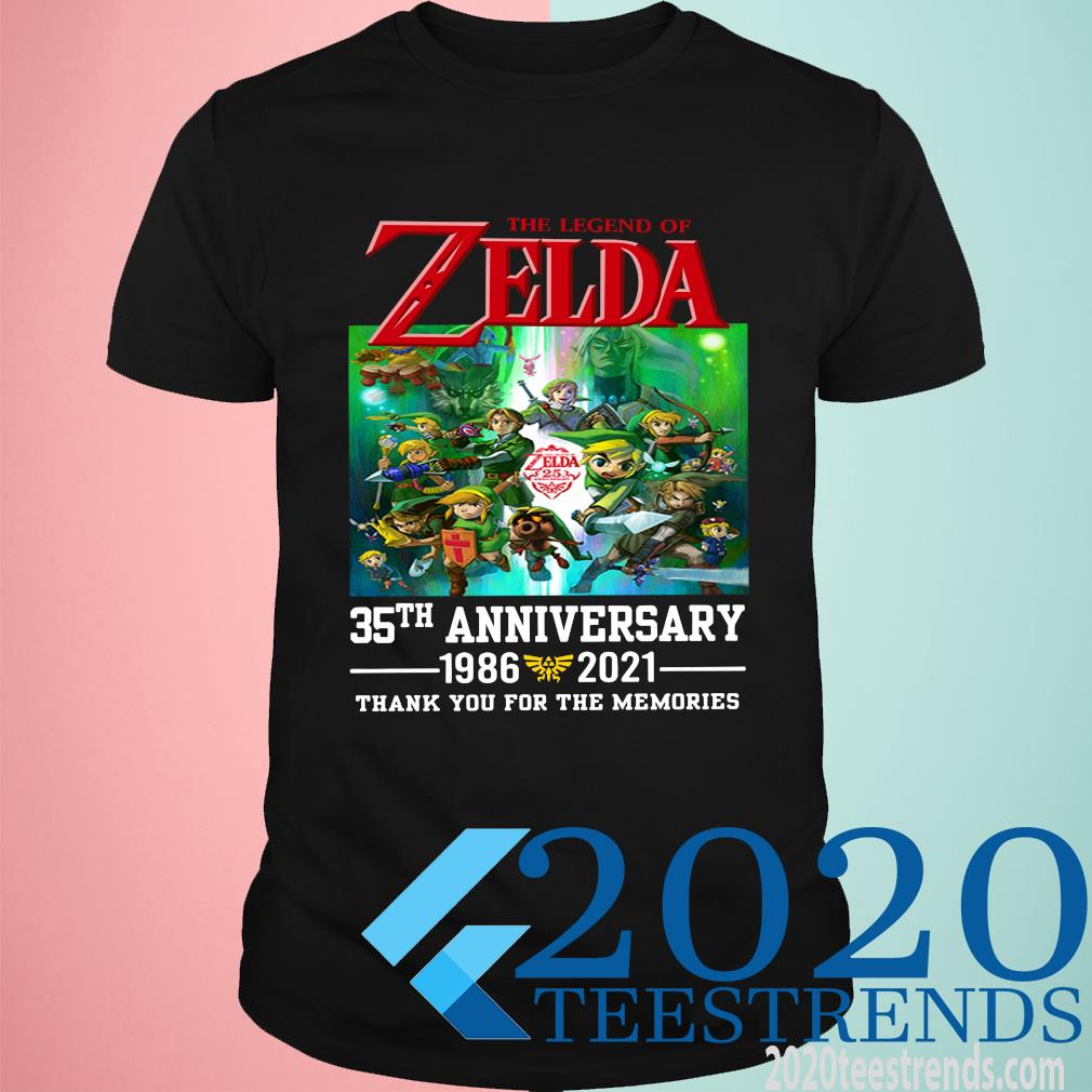 The Legend Of Zelda 35th Anniversary Thank You For The Memories Funny Shirt