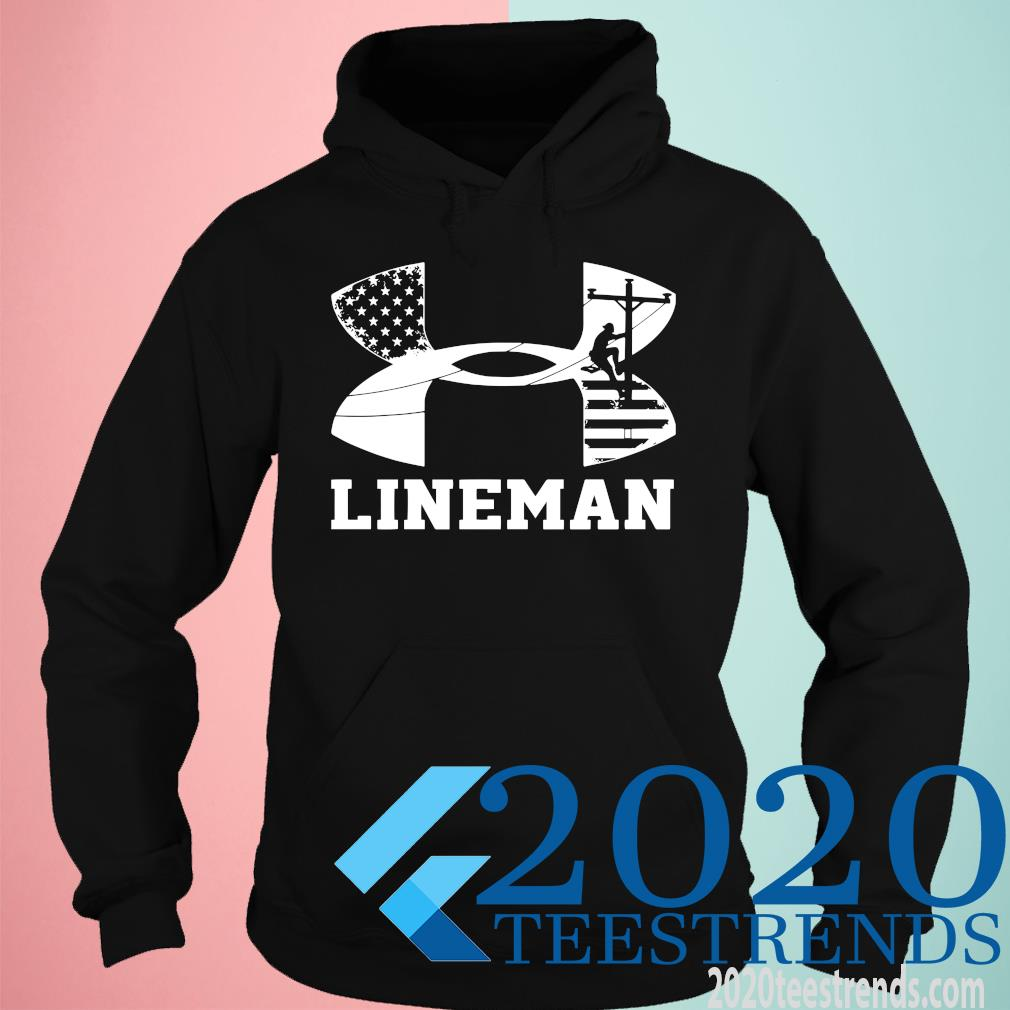 Under Armour Lineman American Flag Funny Shirt hoodie