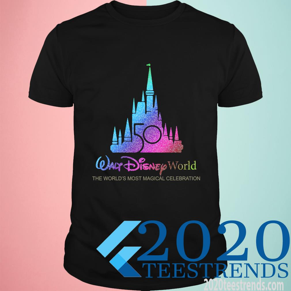 Walt Disney World 50th Anniversary 1970-2020 The World's Most Magical Celebration Funny Shirt