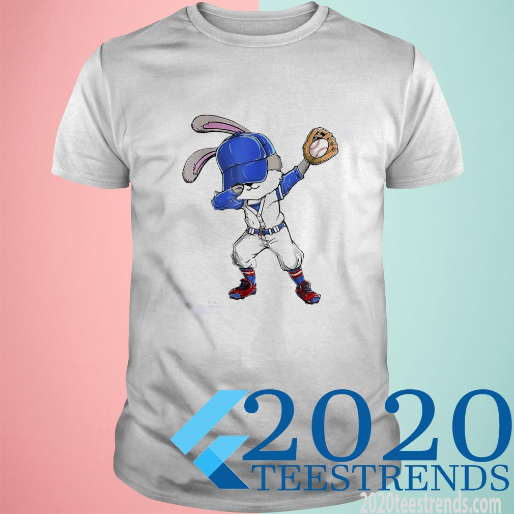 Bunny dabbing playing Baseball shirt