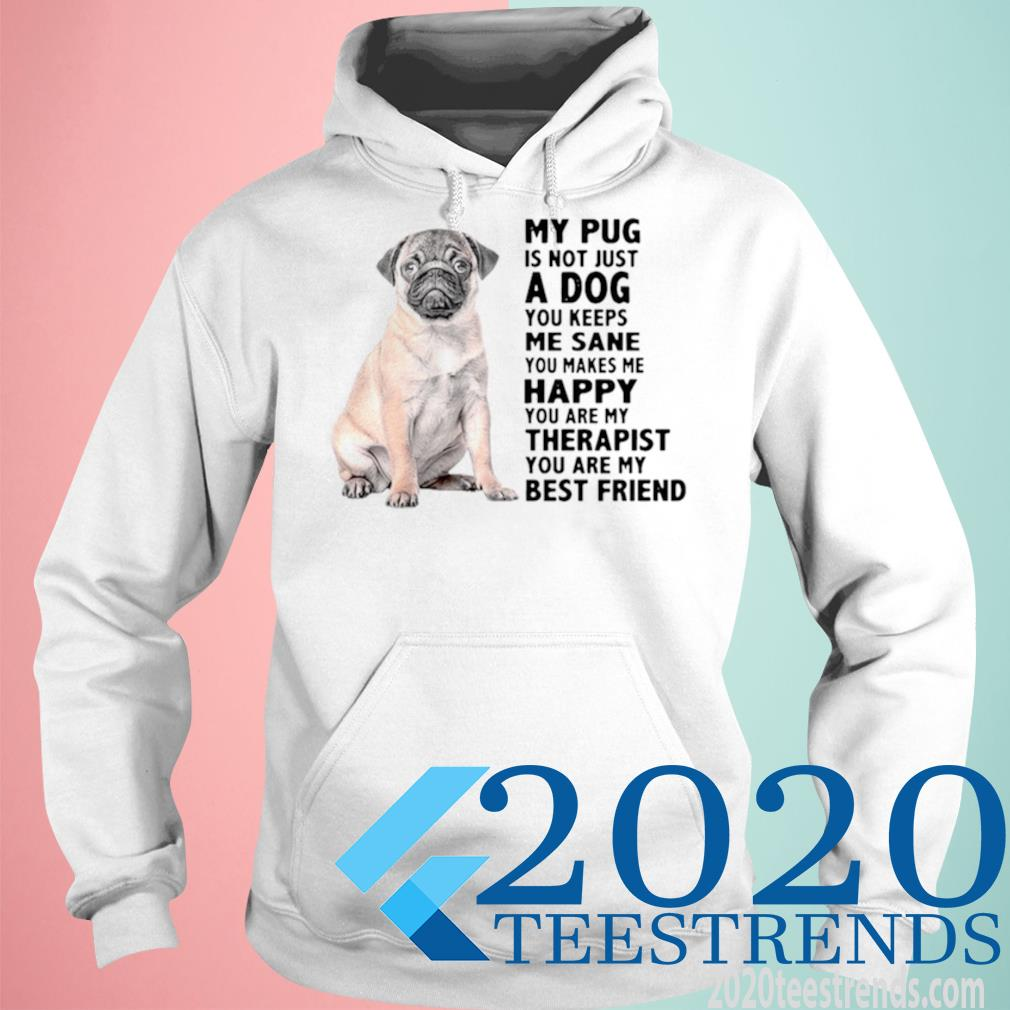 My Pug Is Not Just A Dog You Keeps Me Sane You Makes Me Happy You Are My Therapist Shirt hoodie