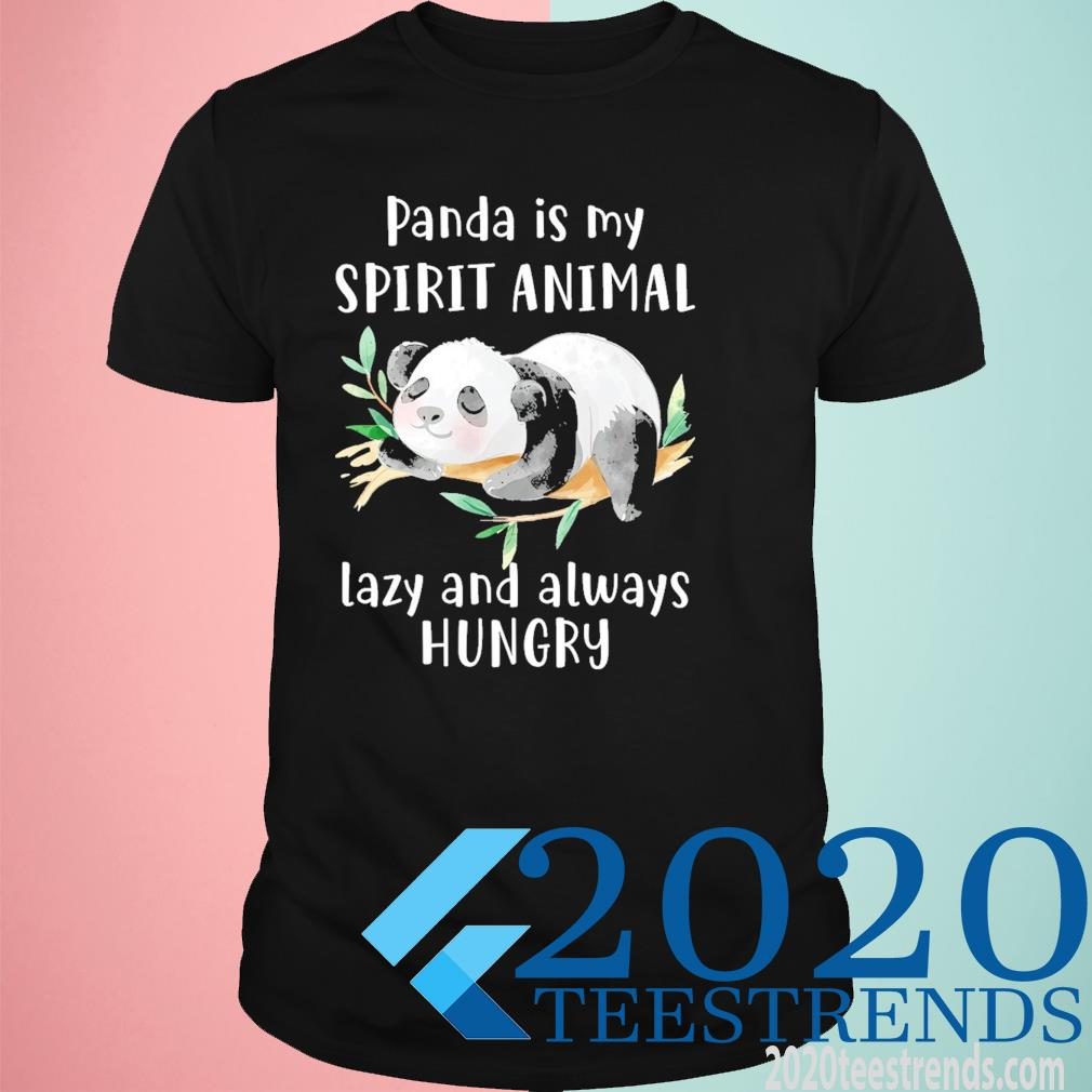 Panda Is my spirit animal lazy and always hungry Funny Shirt