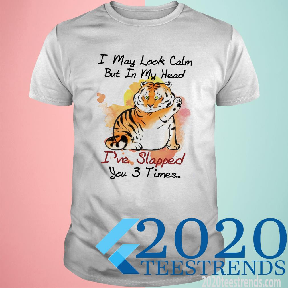 Tiger I May Look Calm But In My Head I've Slapped You 3 Times Shirt