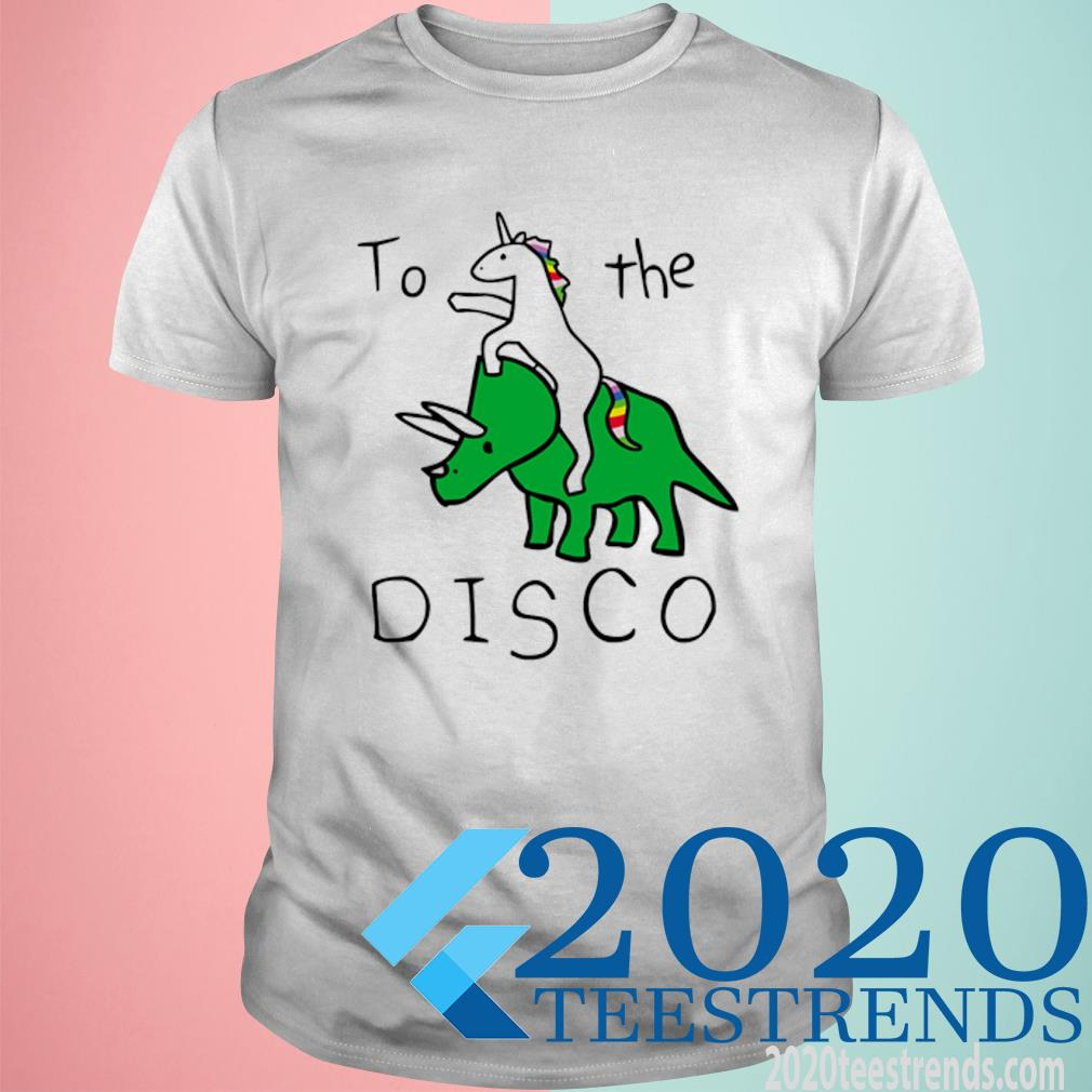 Unicorn Riding Triceratops To The Disco Shirt