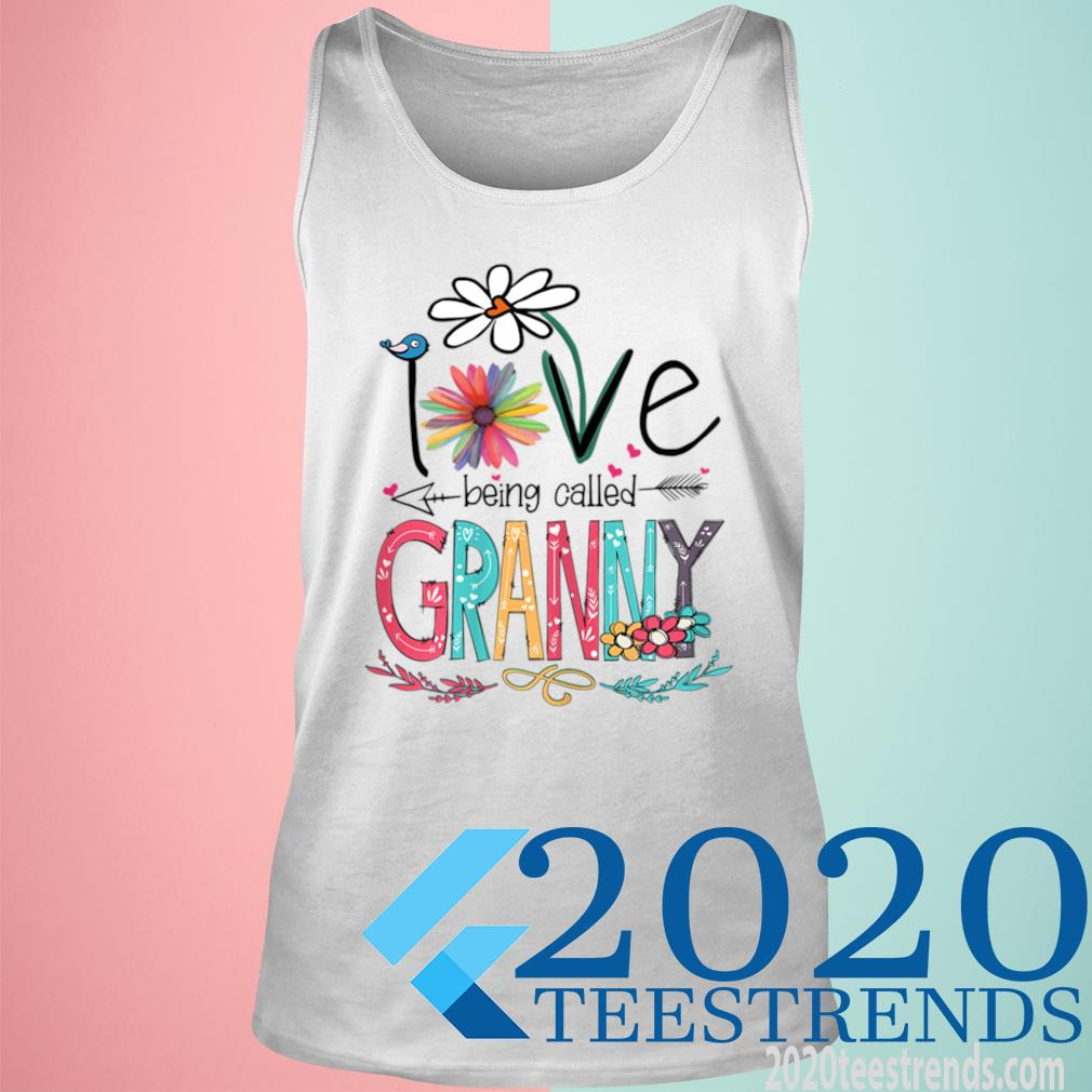 Women's I Love Being Called Granny Sunflower Mother's Day Gift Shirt tank top