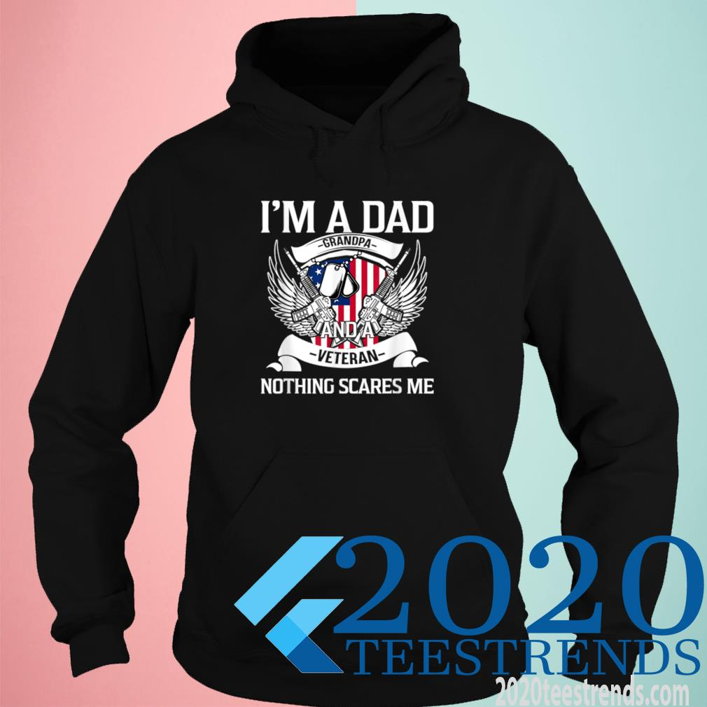I'm A Dad Grandpa And Veteran, Father's Day, USA American Flag Shirt hoodie