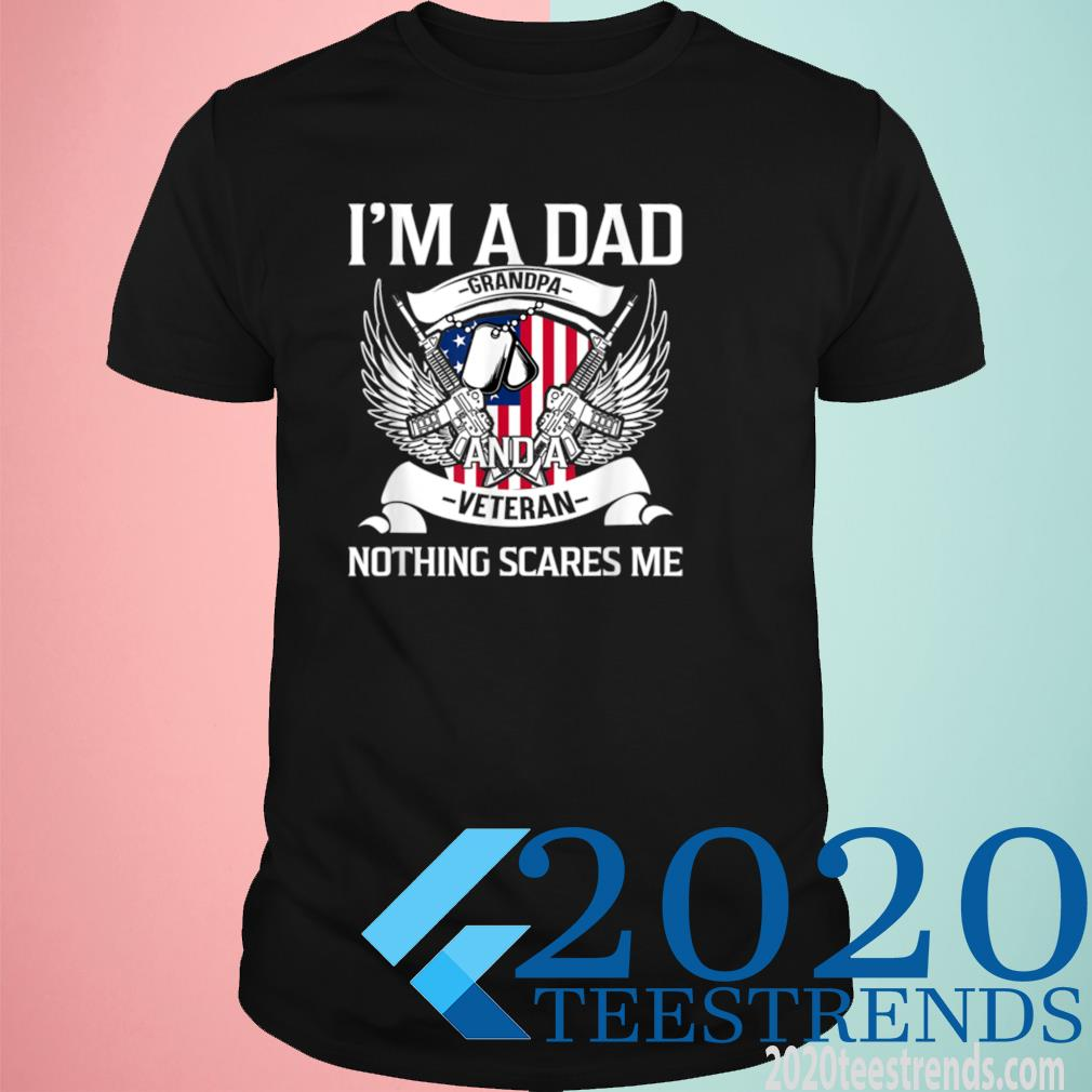 I'm A Dad Grandpa And Veteran, Father's Day, USA American Flag Shirt