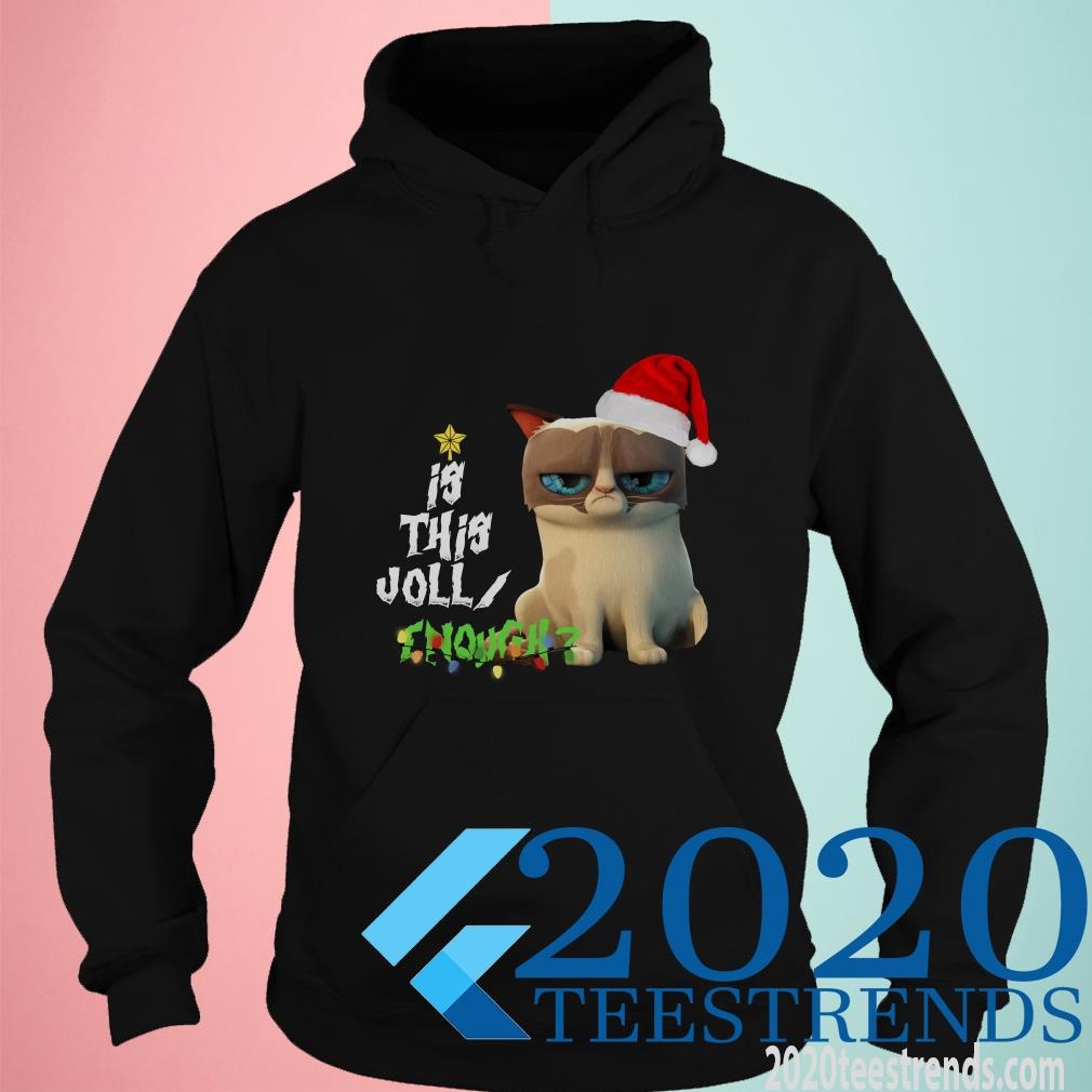 Grumpy Cat Is This Jolly Enough Christmas Hoodies