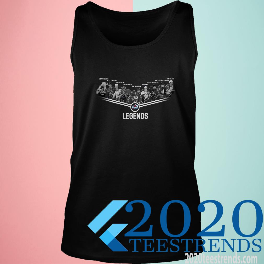 Colorado Avalanche Legends Team Player Signature Tanktop