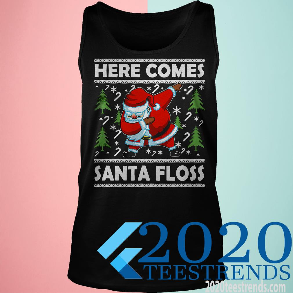 Here Comes Santa Floss Like a Boss Boys Kids Flossing Shirt