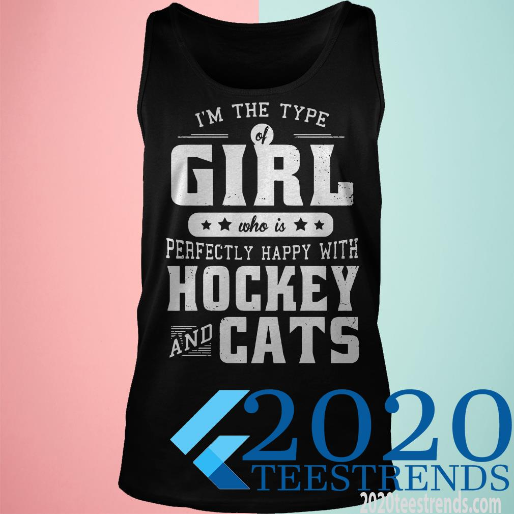 Girl Who Loves Hockey And Cats Hooded Shirt