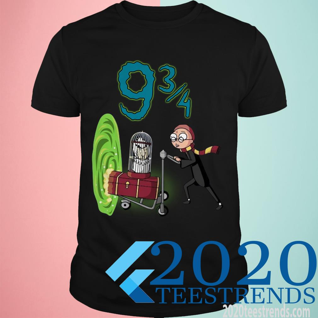 Rick and Morty Harry Potter Platform 9 3 4 Shirt