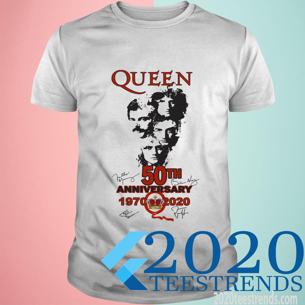 Queen 50th Anniversary 1970 2020 Signature Shirt