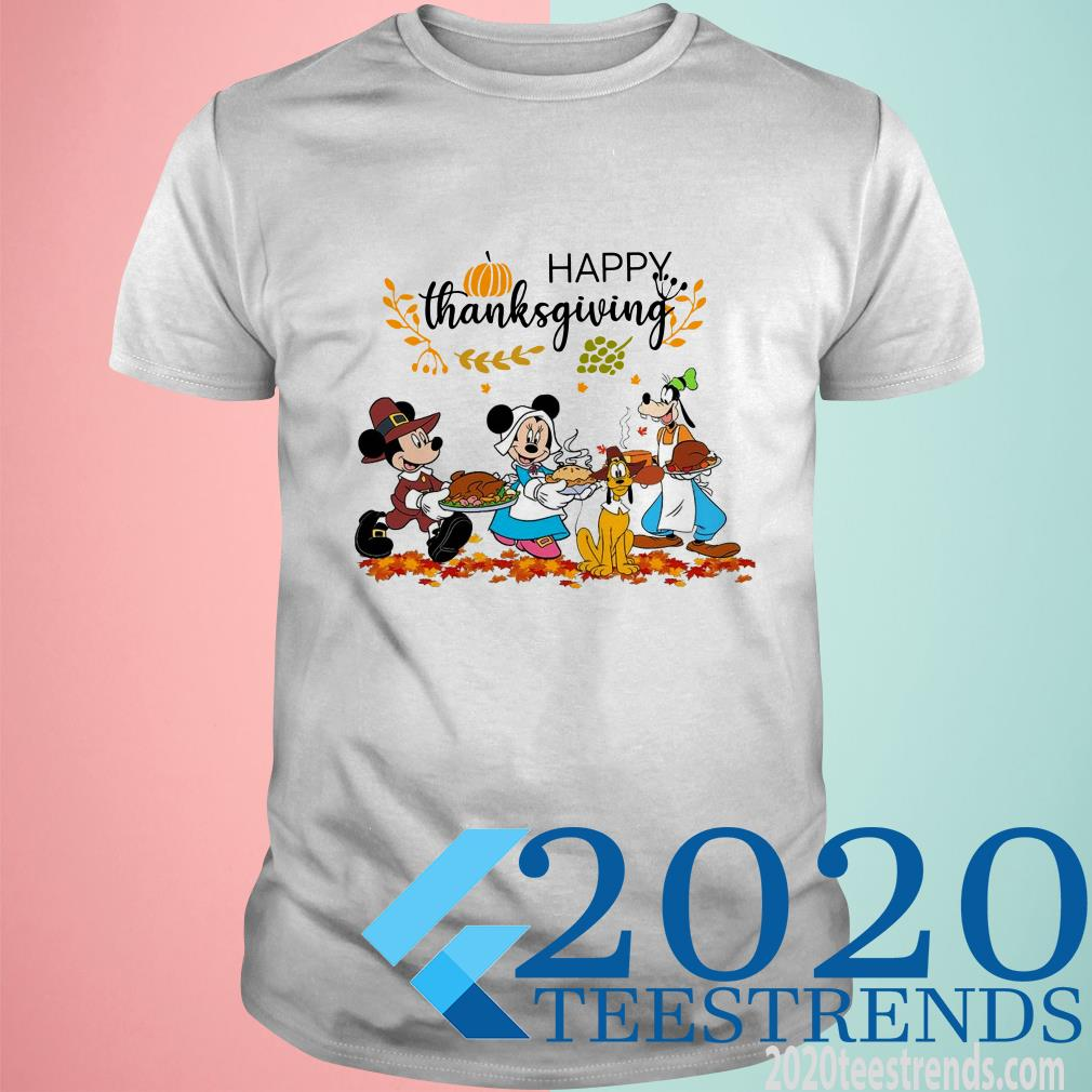 Walt Disney Mickey Mouse Happy Thanksgiving Shirt