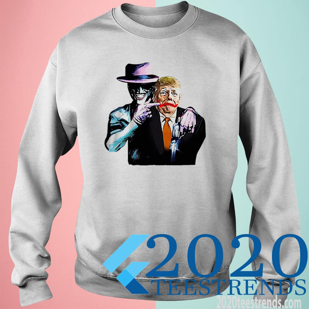 Poker Smile Painting Donald Trump SweatShirt