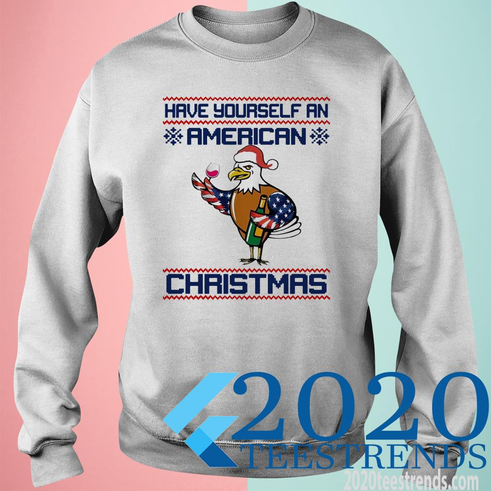 Have Yourself An American Christmas White Head Eagle SweatShirt
