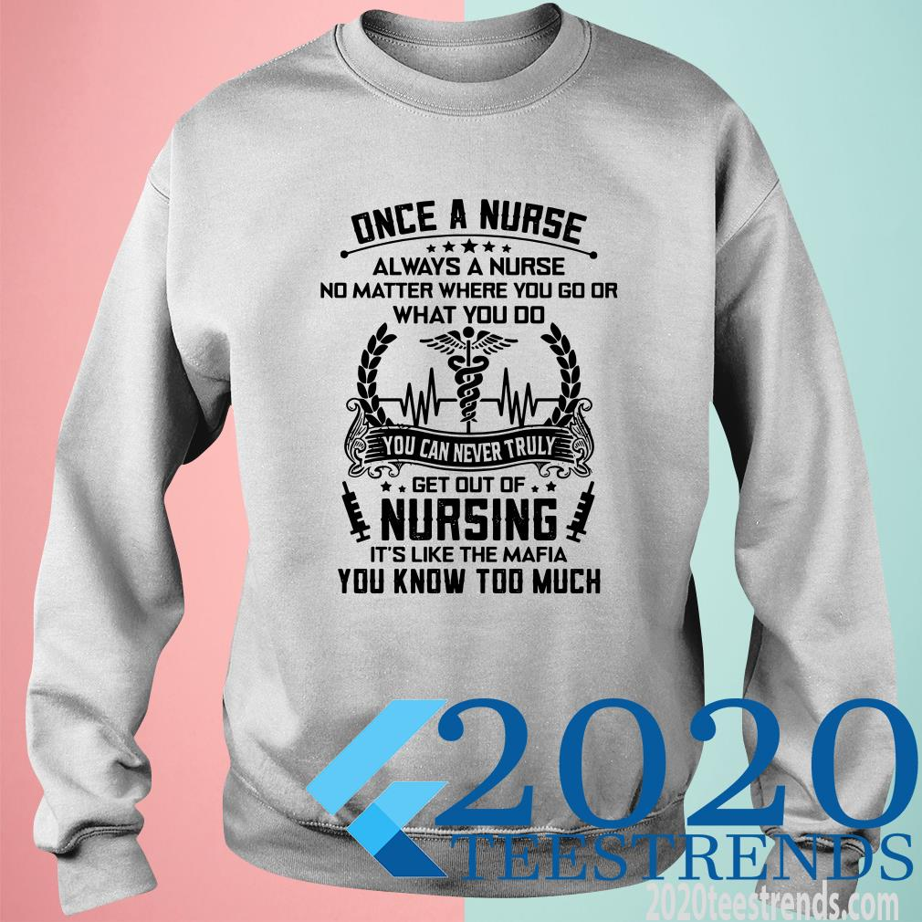Once A Nurse Always A Nurse No Matter Where You Go Or What You Do SweatShirt