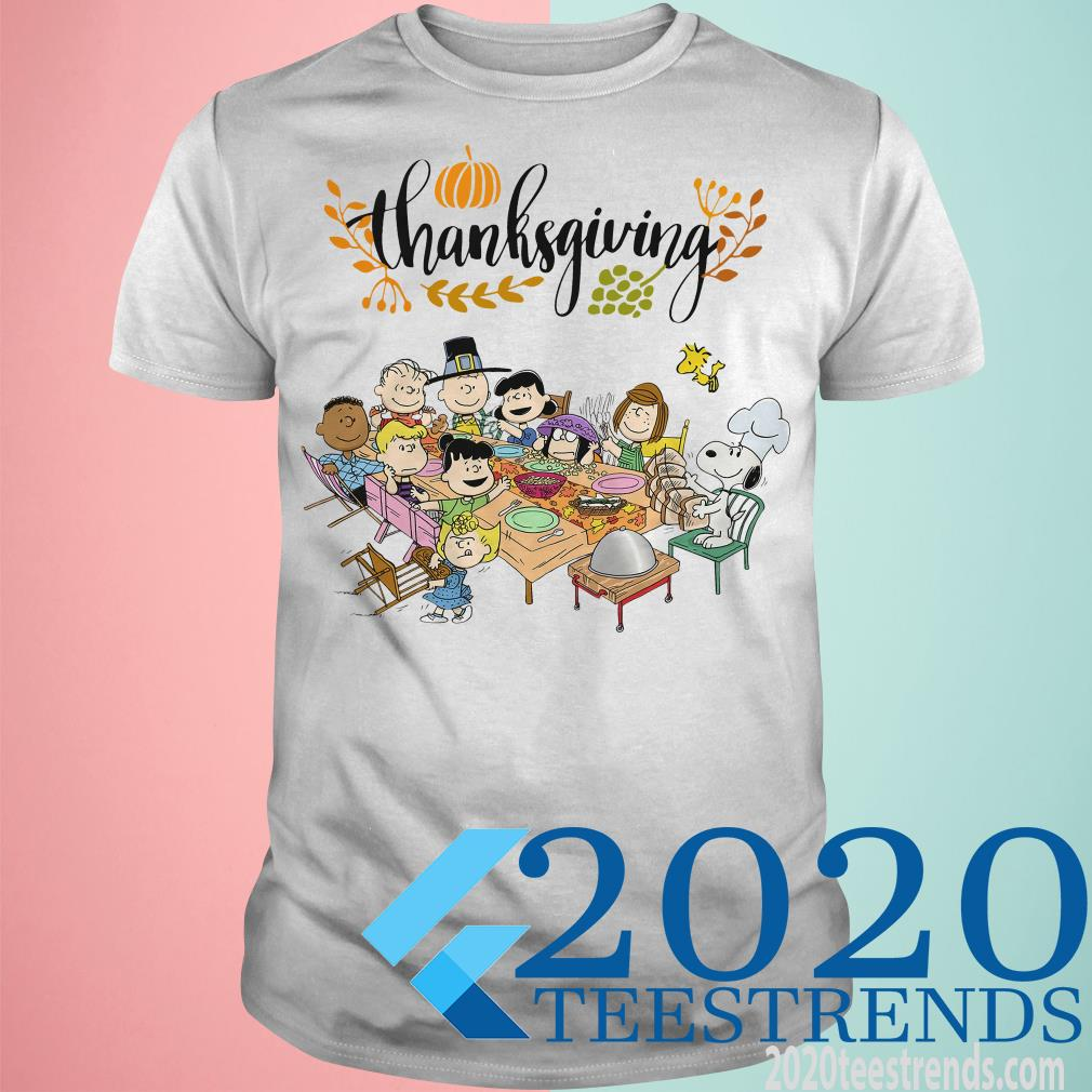Charlie Brown Thanksgiving Table Shirt