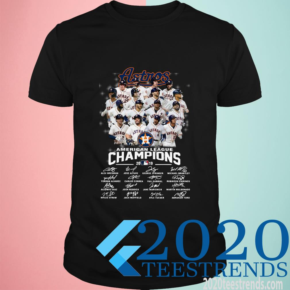Houston Astros American League Champions 2019 Signature Shirt
