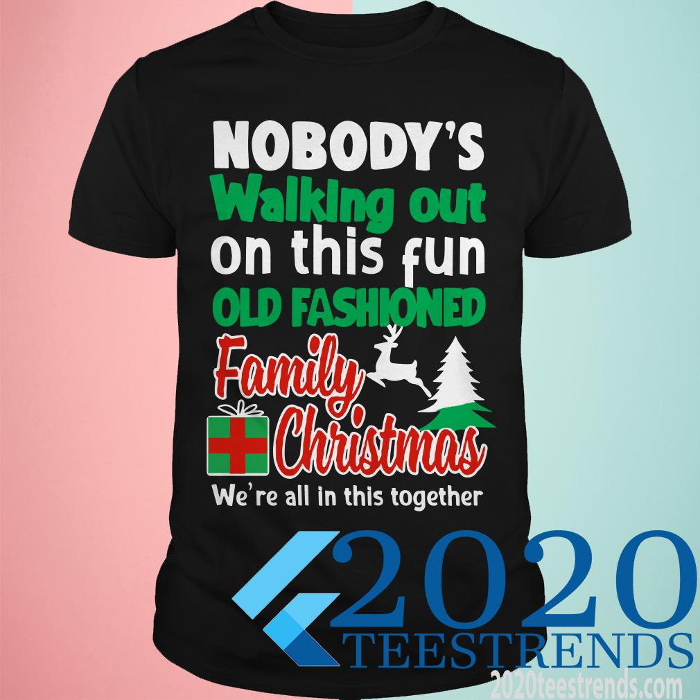 Nobody's Walking Out On This Fun Old Fashion Family Christmas Sweater