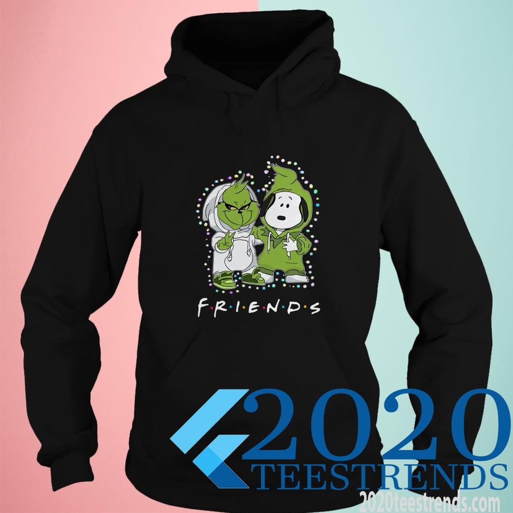 Baby Grinch And Snoopy Friends Light Christmas Hoodies