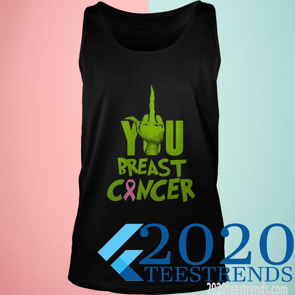 Grinch Fuck You Breast Cancer Tanktop