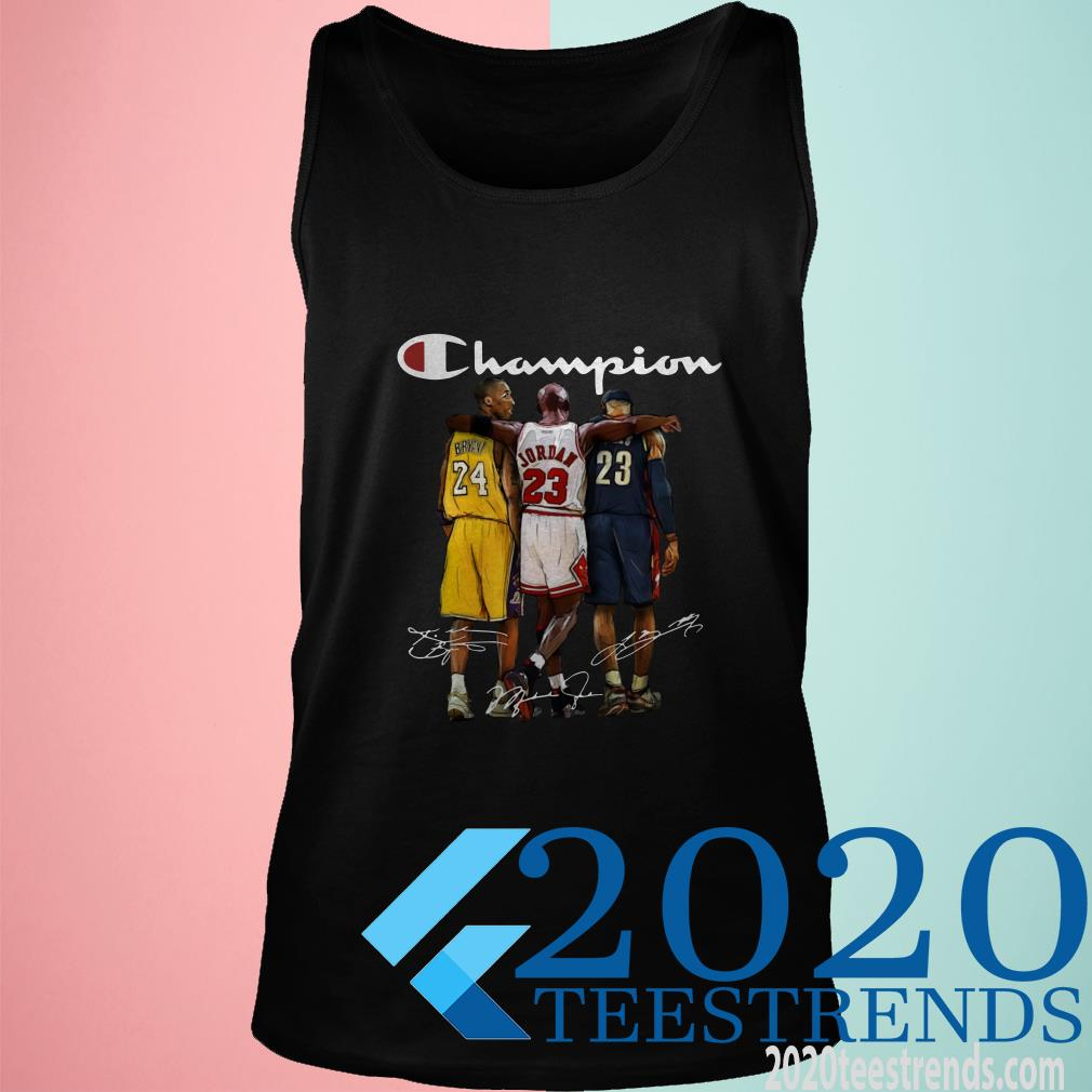 Kobe Bryant Michael Jordan and LeBron James Champion Tanktop