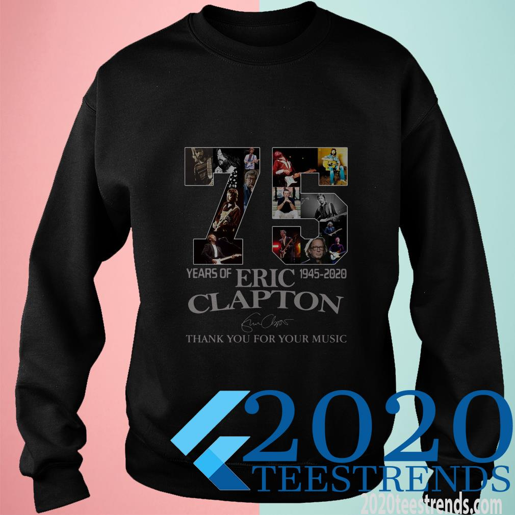 75 Years Of 1945-2020 Eric Clapton Thank You For Your Music Signatures Sweater