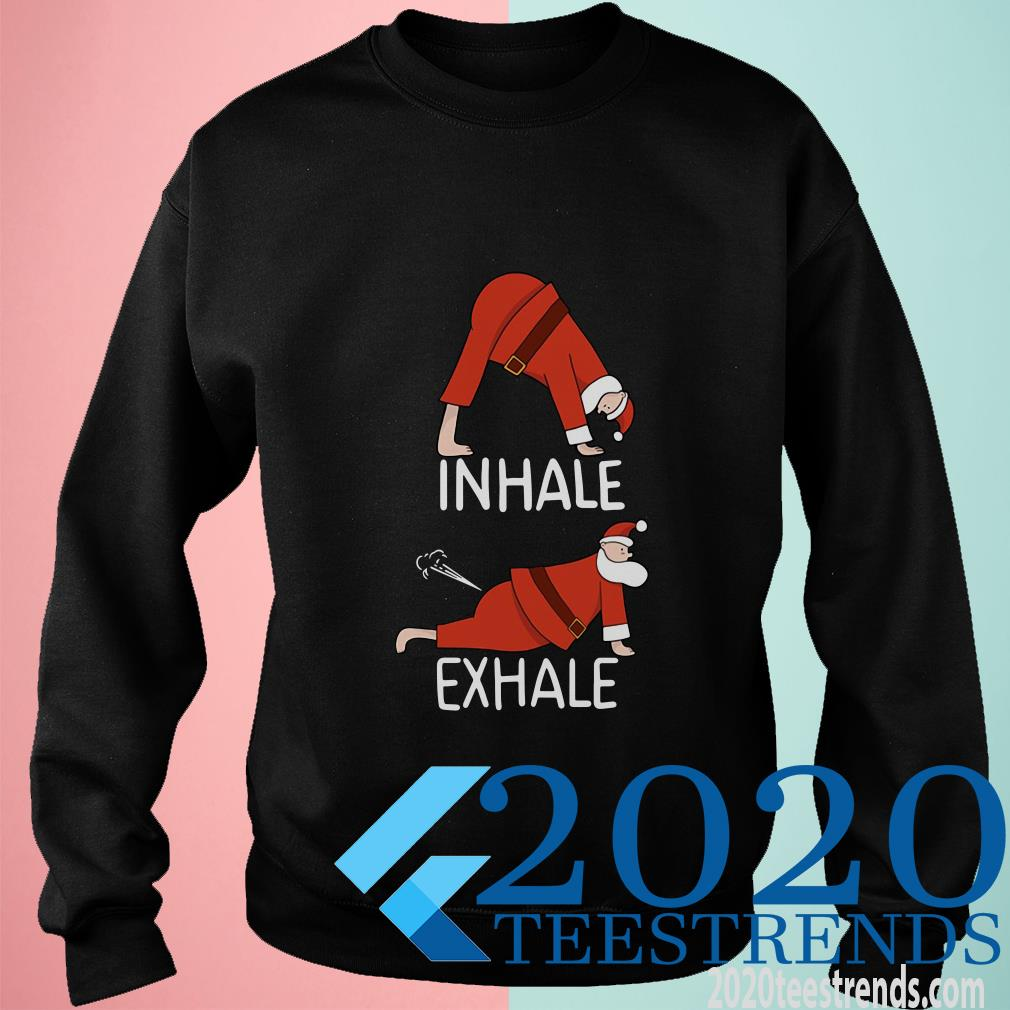 Santa Clause INHALE EXHALE Christmas Sweater