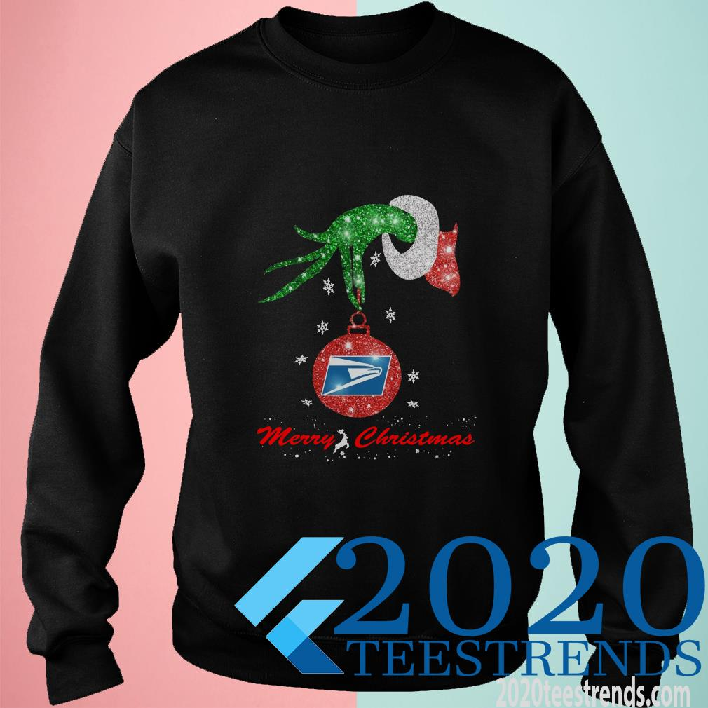 Grinch Hand United States Postal Service Merry Christmas Sweater