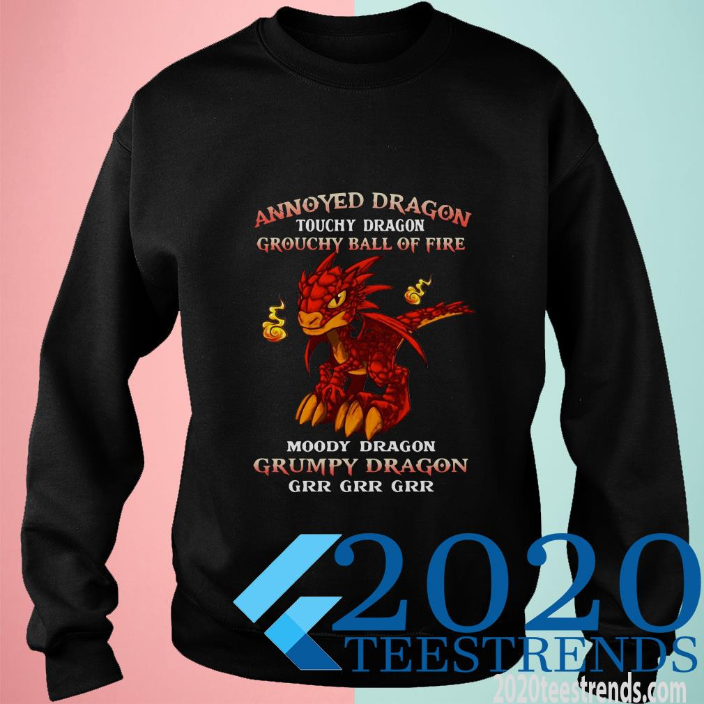 Annoyed Dragon Touchy Dragon Grouchy Ball Of Sweater