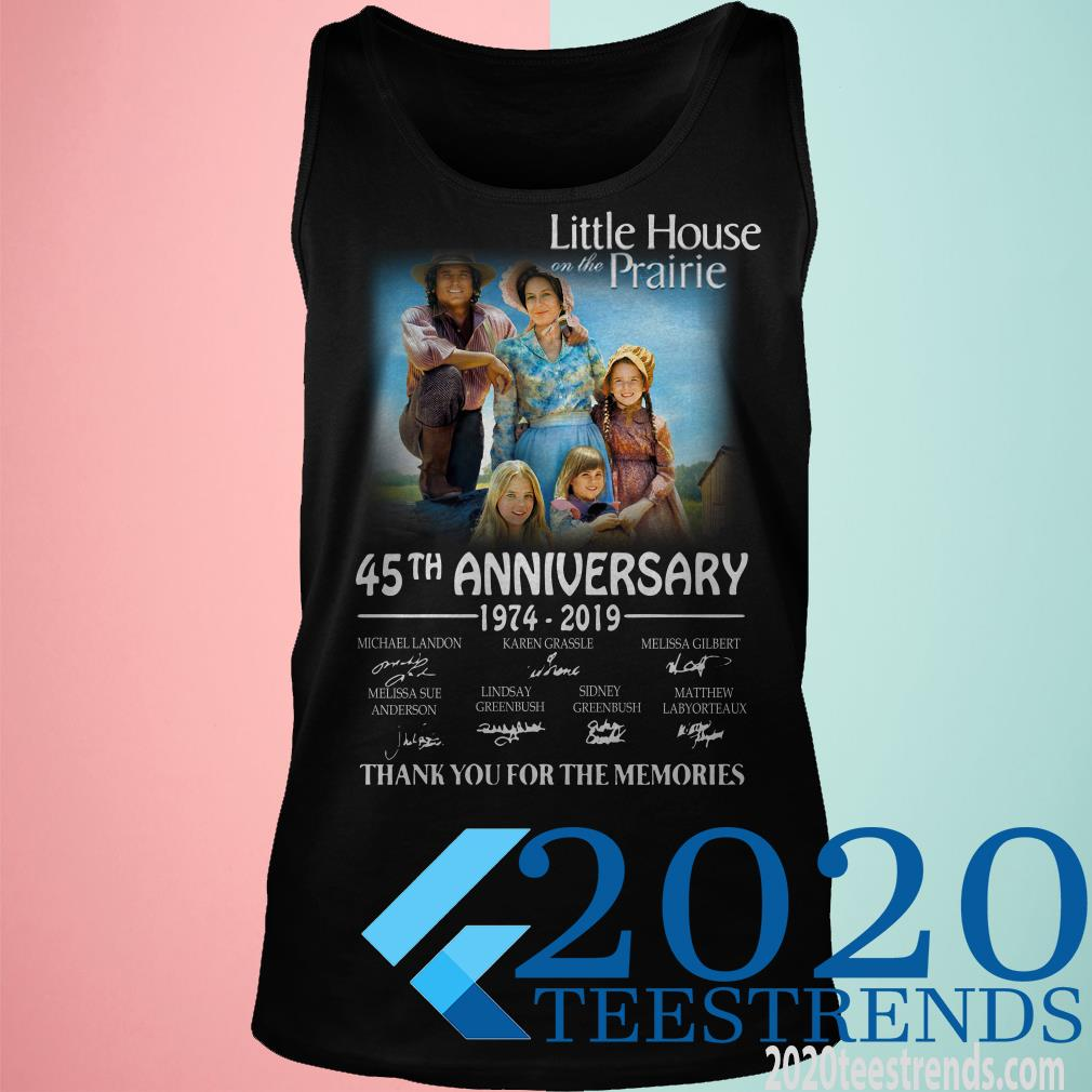 Little House On The Prairie 45th Anniversary 1974 2019 Signature Shirt