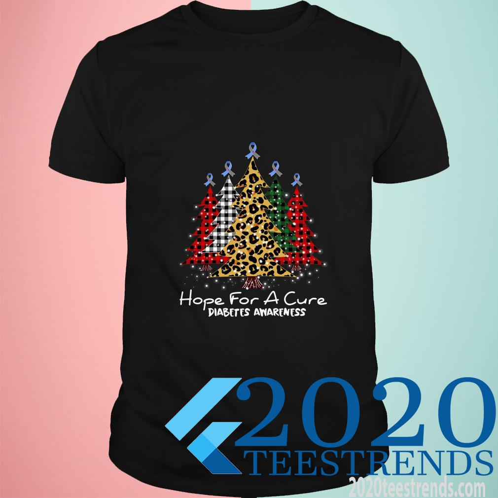 Christmas Trees Hope For A Cure Diabetes Awareness T-Shirt