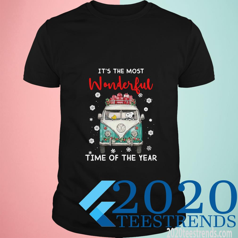 Snoopy and Woodstock It's The Most Wonderful Time Of The Year Christmas ShirtSnoopy and Woodstock It's The Most Wonderful Time Of The Year Christmas Shirt