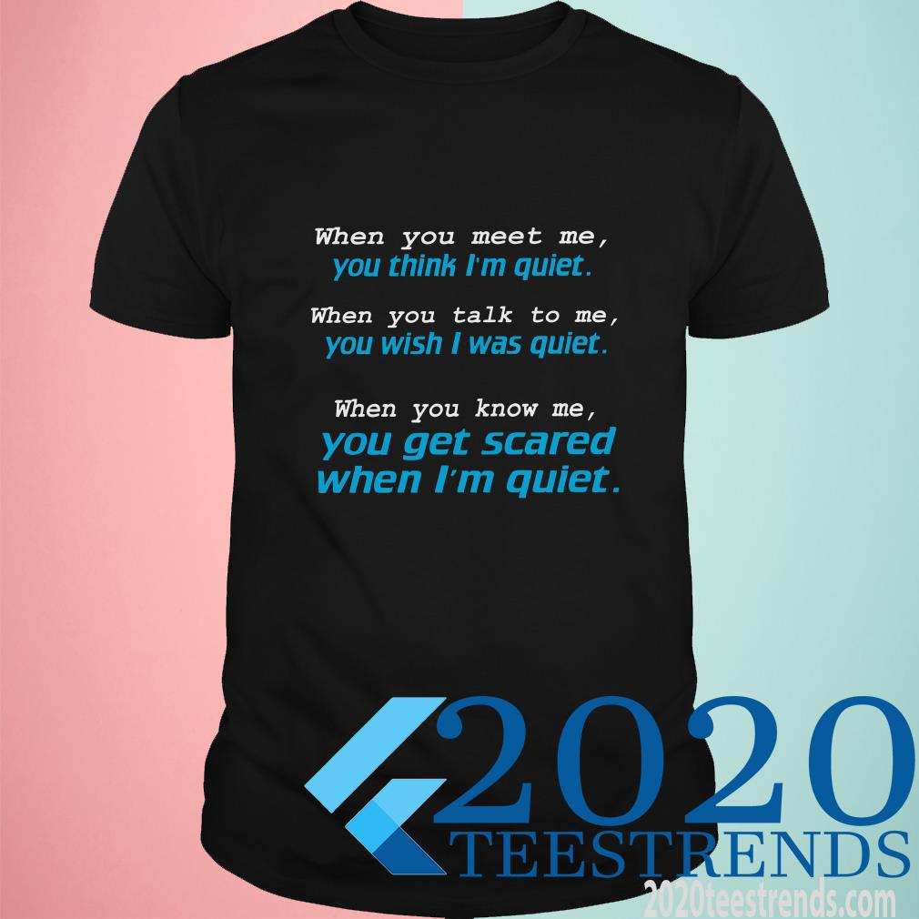 When You Meet Me You Think I'm Quiet T-Shirt