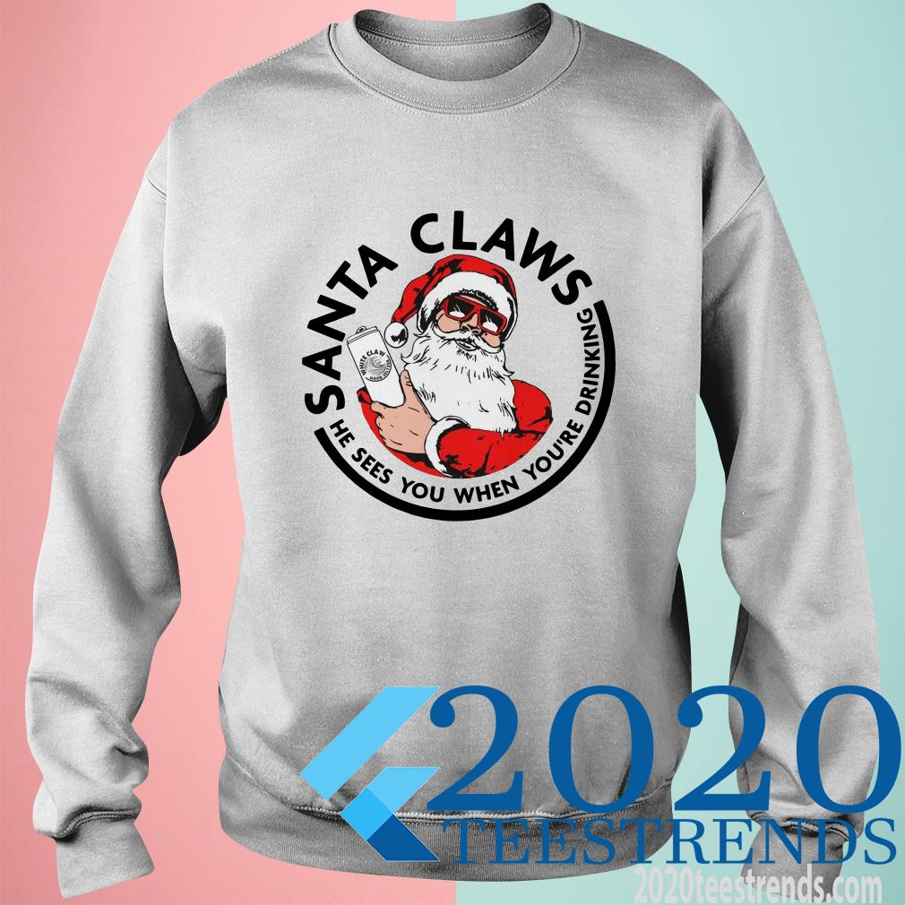 Santa Claws He Sees You When You're Drinking Christ Sweater