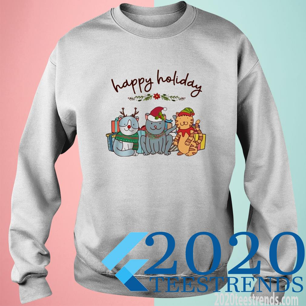 Happy Holliday Cats Christmas Sweater